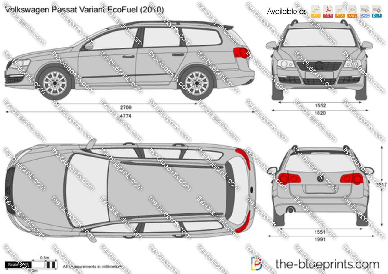 the vector drawing volkswagen passat variant ecofuel. Black Bedroom Furniture Sets. Home Design Ideas
