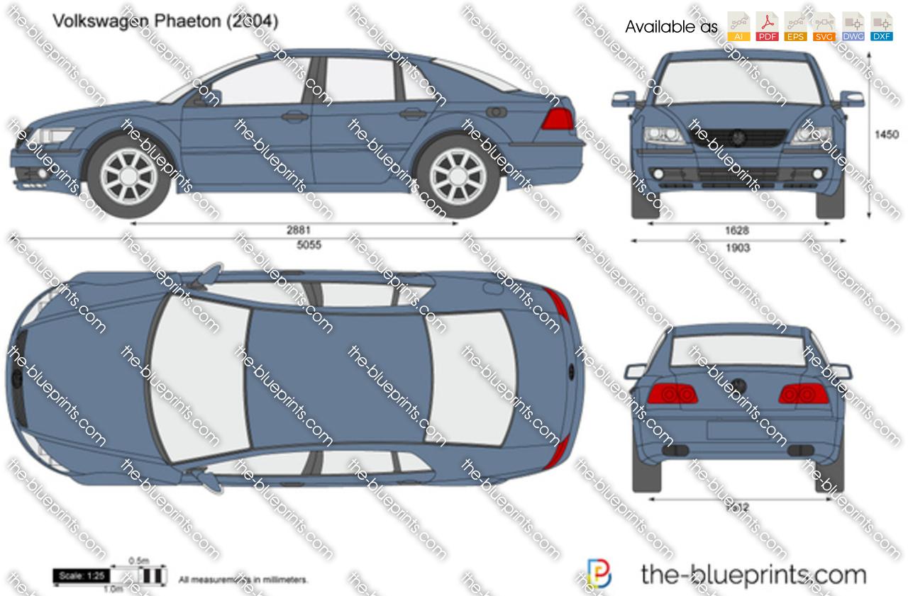 the vector drawing volkswagen phaeton. Black Bedroom Furniture Sets. Home Design Ideas