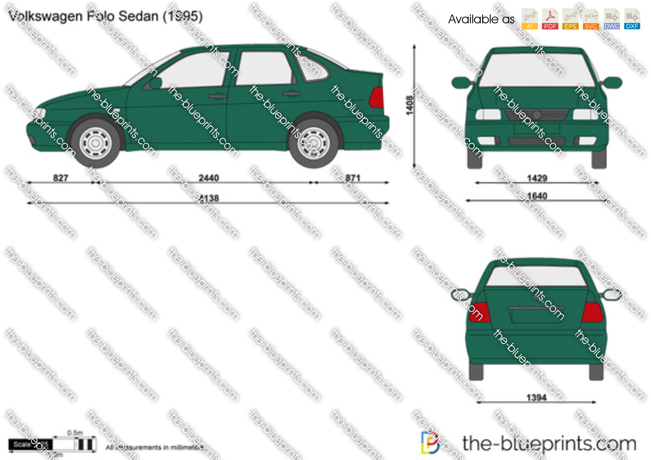 volkswagen polo sedan vector drawing. Black Bedroom Furniture Sets. Home Design Ideas