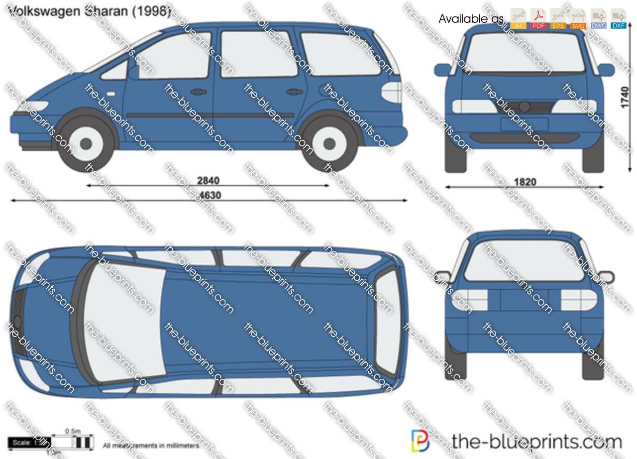 the vector drawing volkswagen sharan. Black Bedroom Furniture Sets. Home Design Ideas