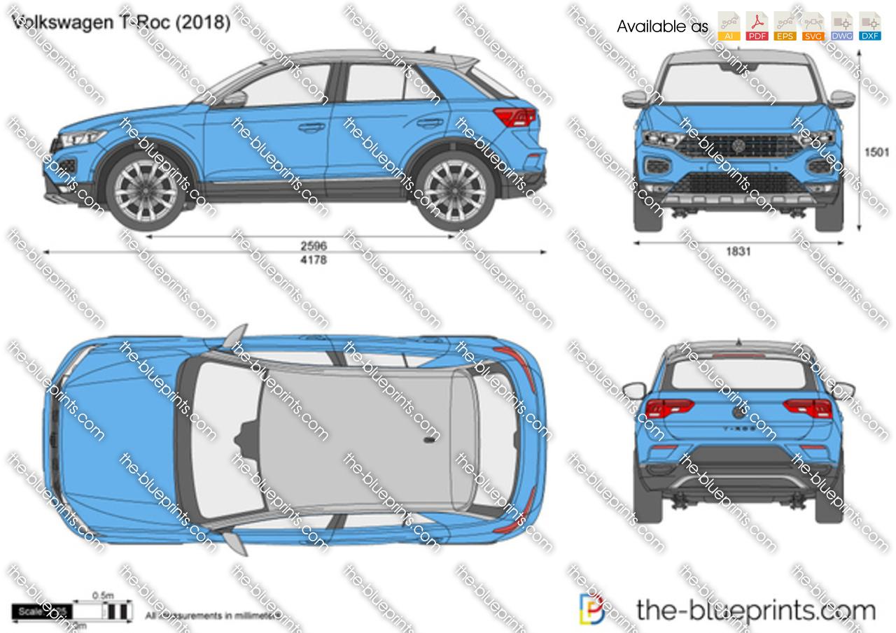 Volkswagen T Roc Vector Drawing