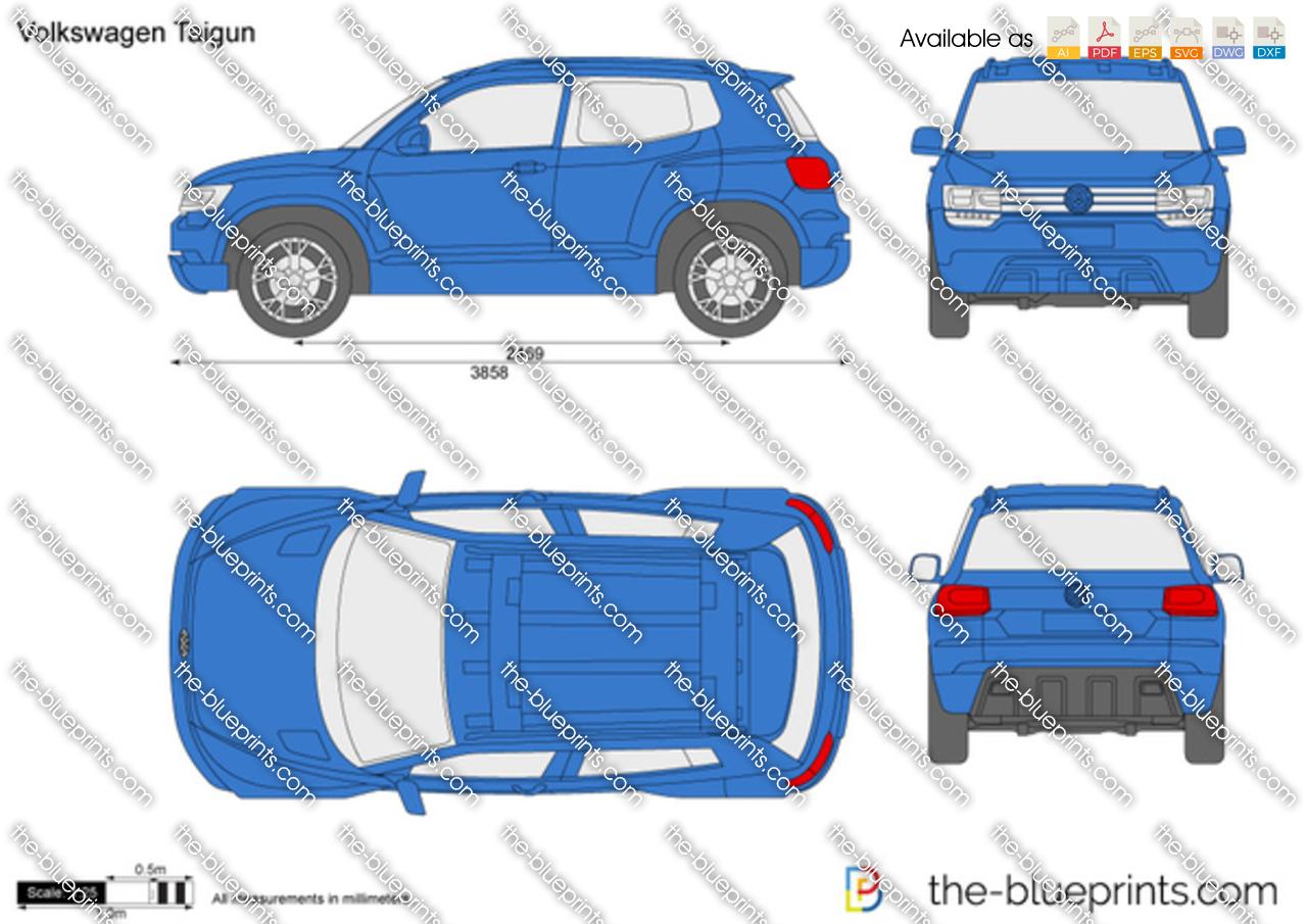 The Blueprints Com Vector Drawing Volkswagen Taigun