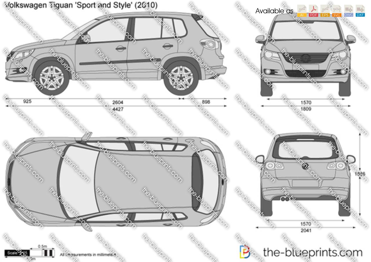 The blueprints com vector drawing volkswagen tiguan 39 sport and style 39