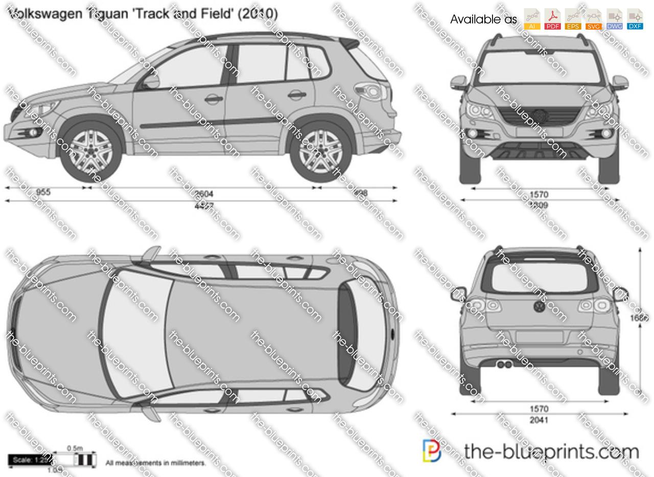 The-Blueprints.com - Vector Drawing - Volkswagen Tiguan 'Track and Field'