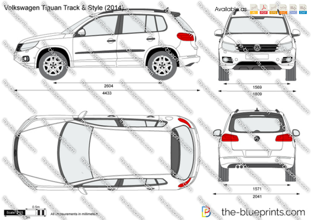 volkswagen tiguan track style vector drawing. Black Bedroom Furniture Sets. Home Design Ideas