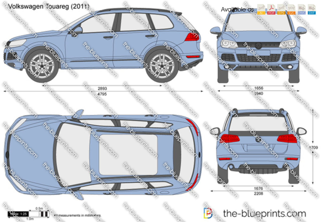 The blueprints com vector drawing volkswagen touareg