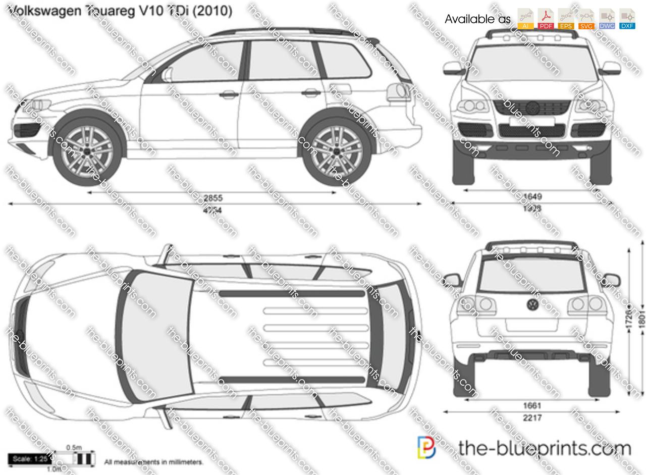 volkswagen touareg v10 tdi vector drawing. Black Bedroom Furniture Sets. Home Design Ideas
