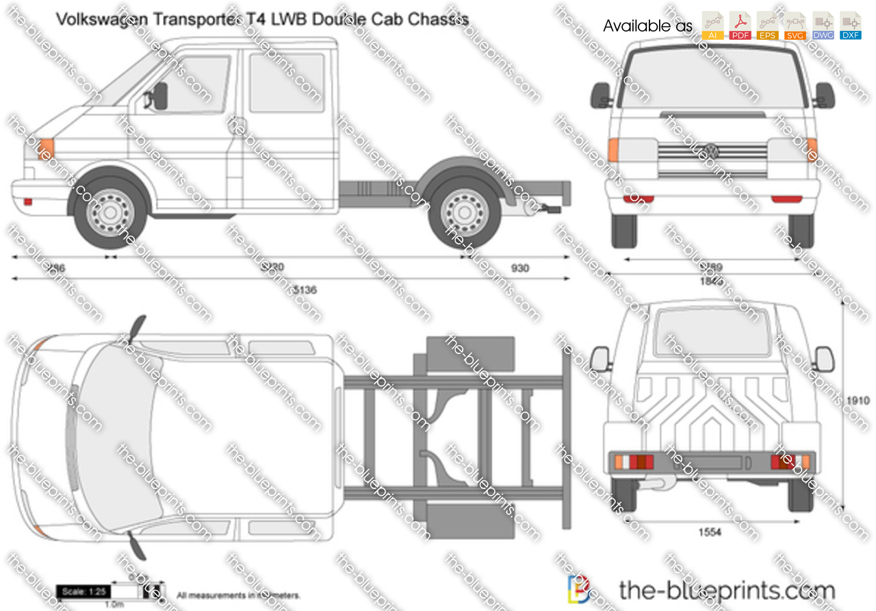 Volkswagen Transporter T4 LWB Double Cab Chassis