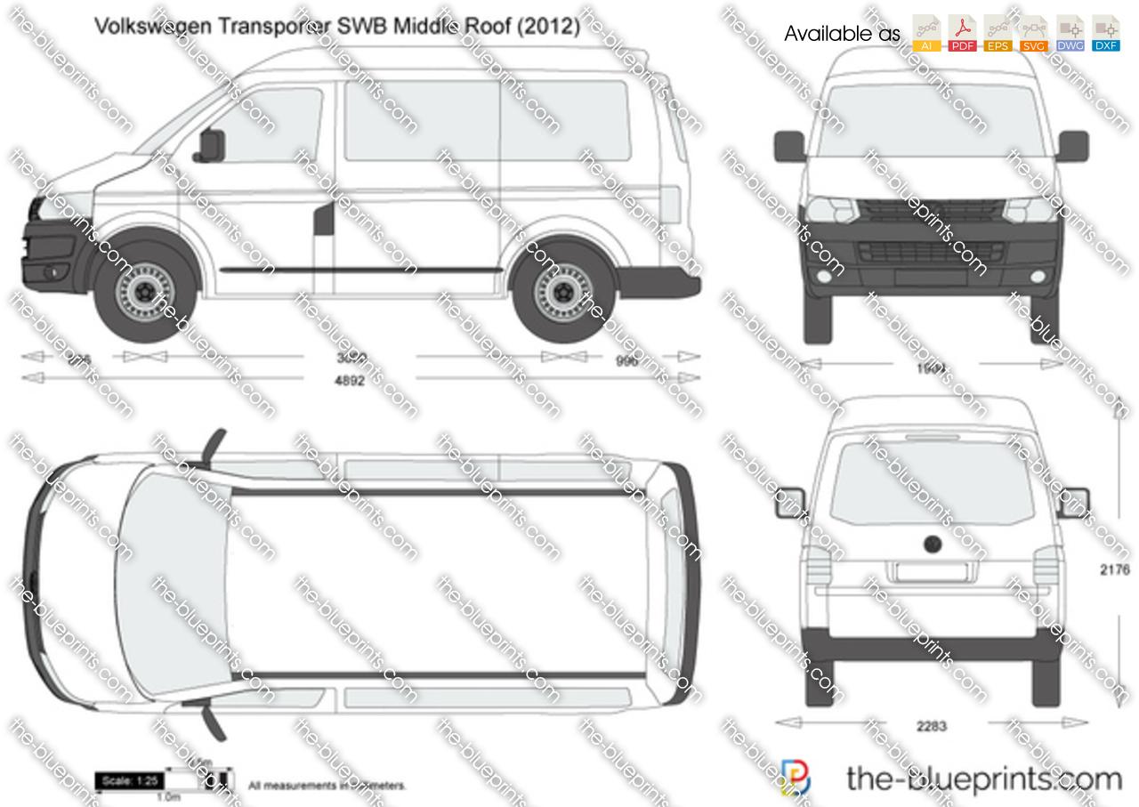 Volkswagen Transporter T5.2 SWB Middle Roof