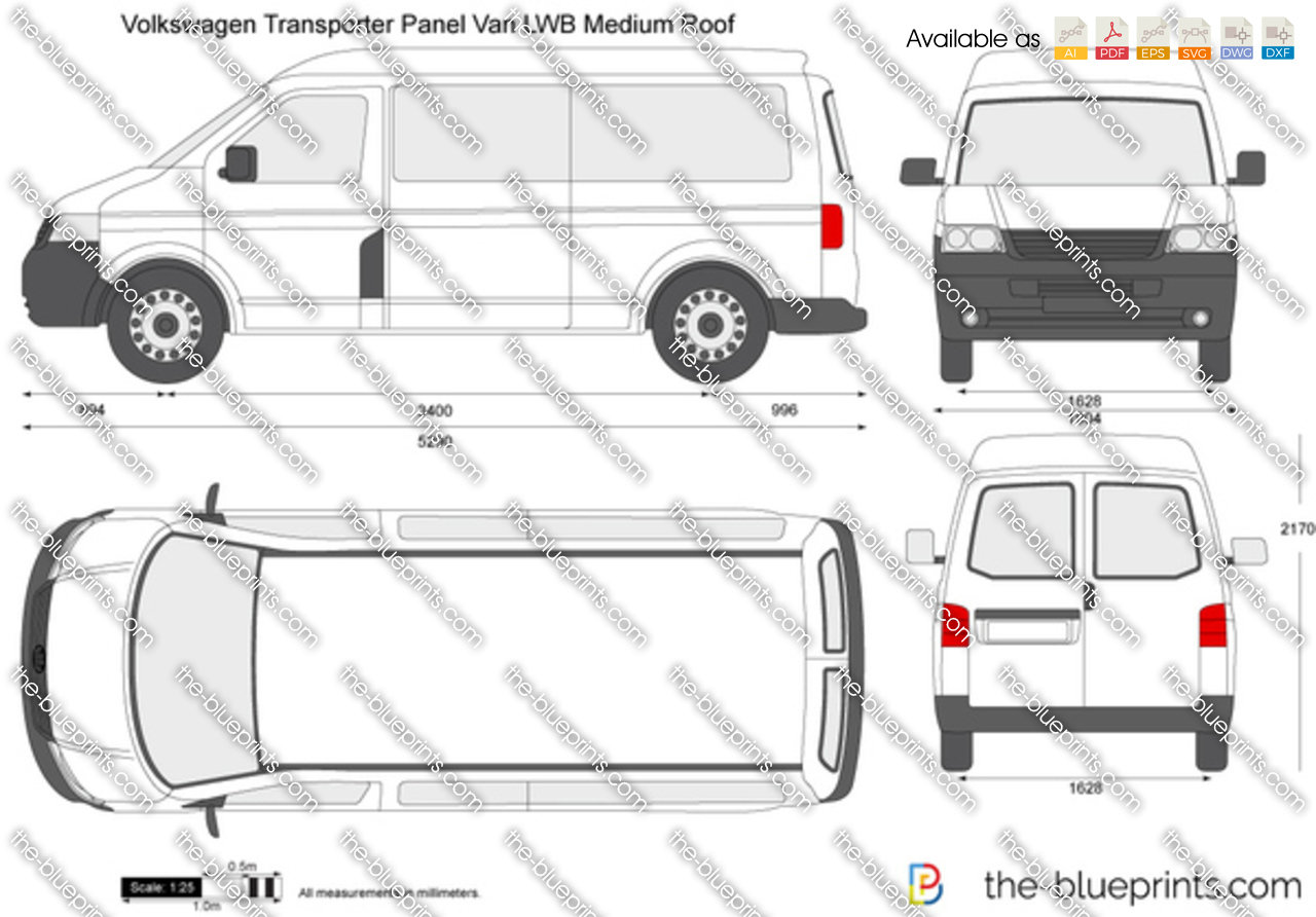 Volkswagen Transporter T5 Panel Van LWB Medium Roof
