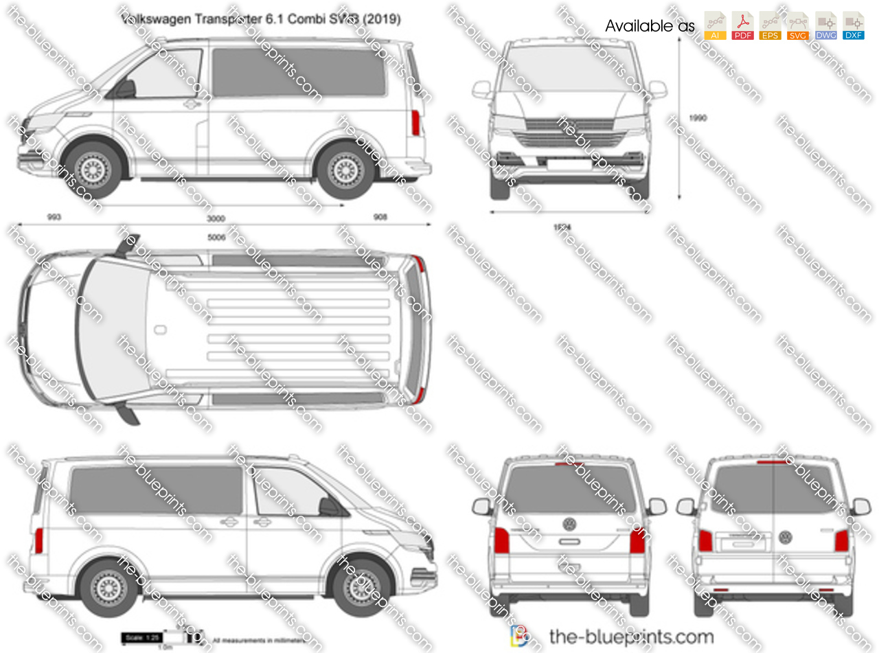 Volkswagen Transporter T6.1 Combi SWB