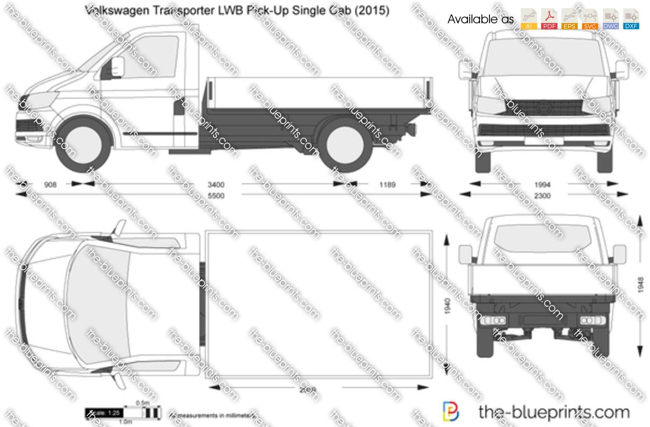 Volkswagen Transporter T6 LWB Pick-Up Single Cab