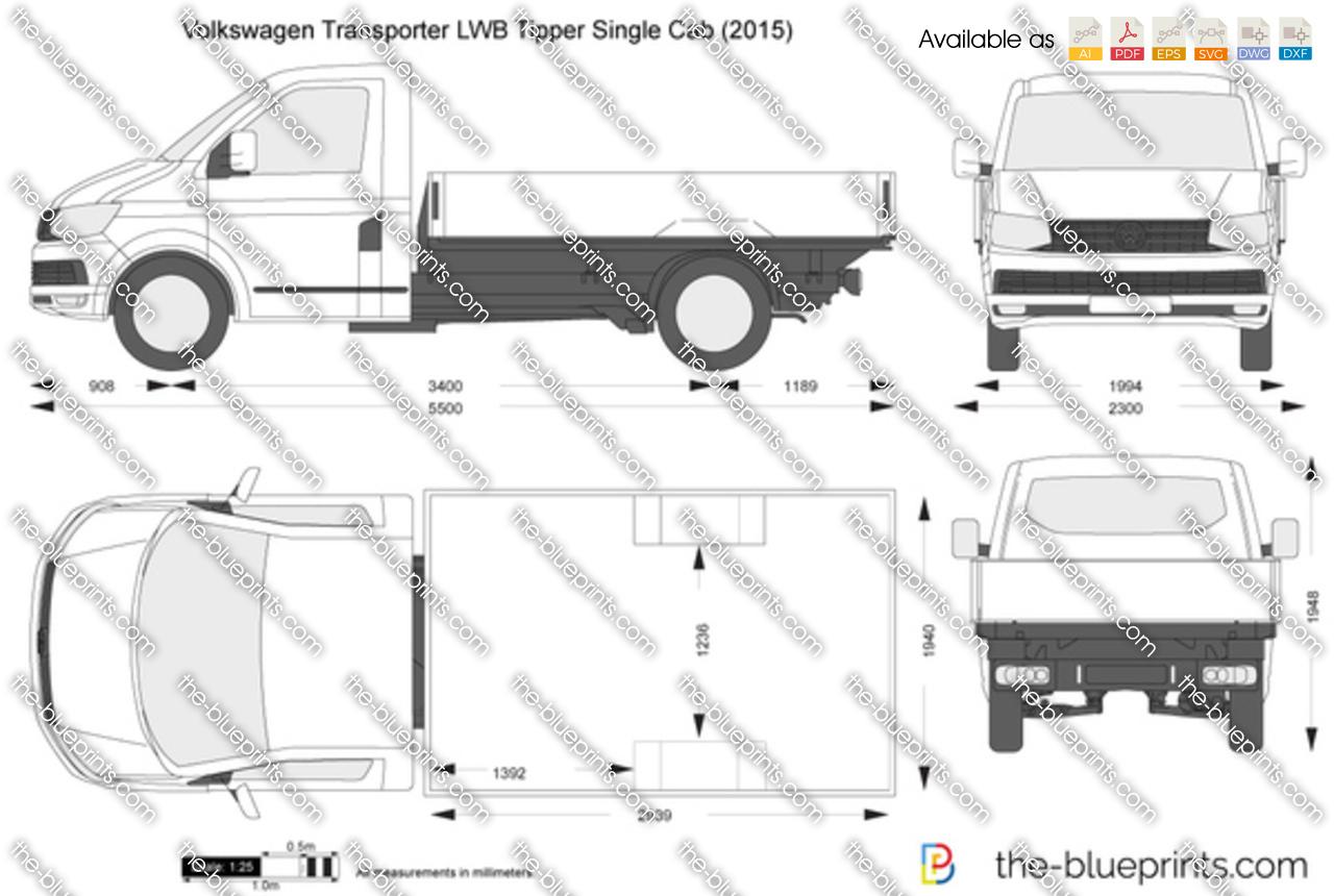 Volkswagen Transporter T6 LWB Tipper Single Cab