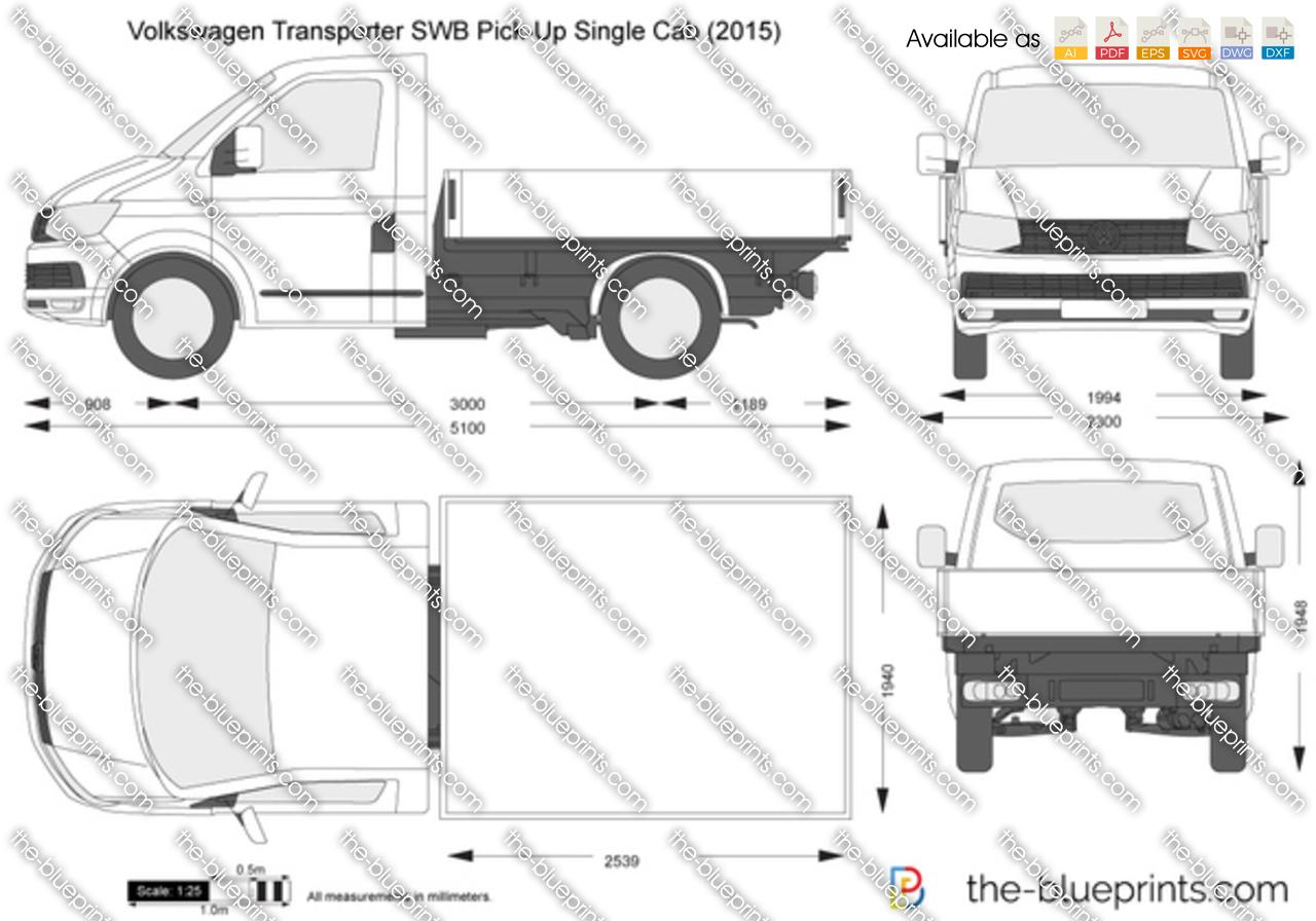 Volkswagen Transporter T6 SWB Pick-Up Single Cab