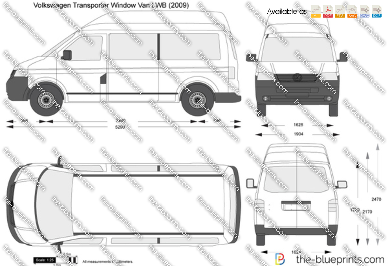 Volkswagen Transporter Window Van LWB