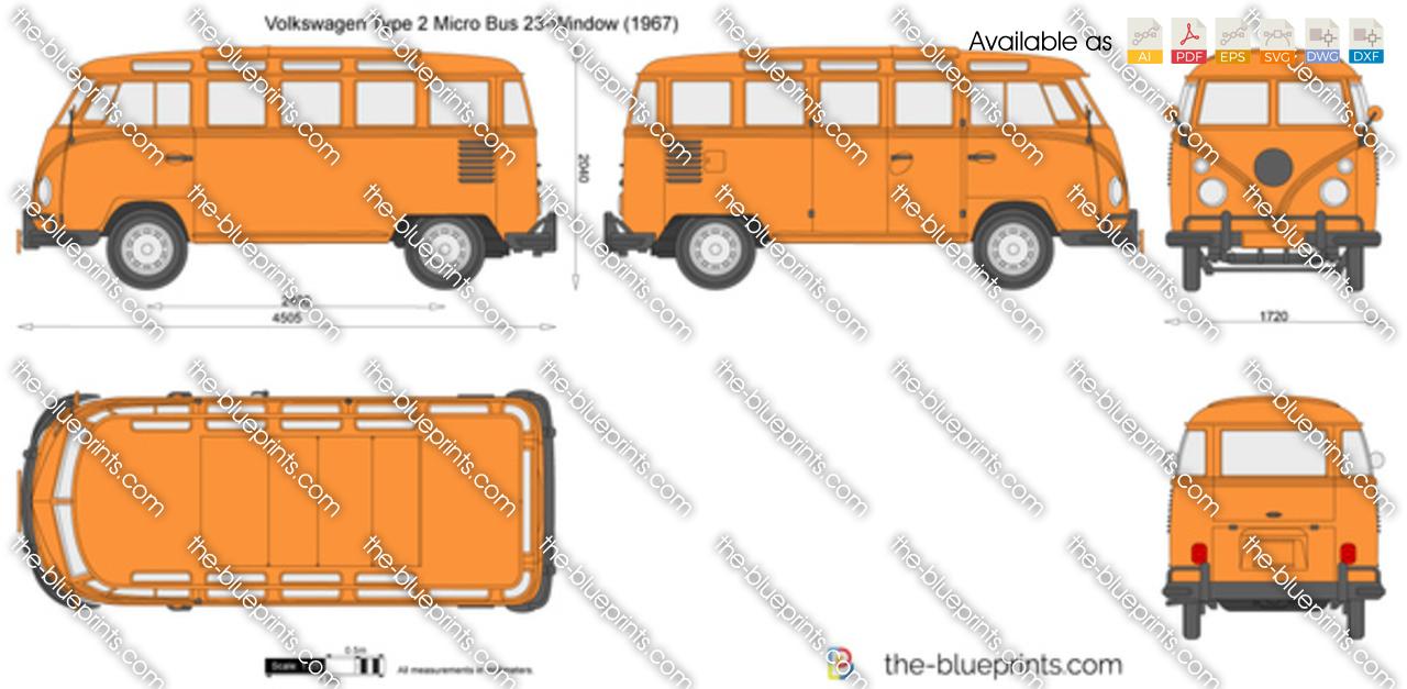 Volkswagen Type 2 Micro Bus 23-Window 1960