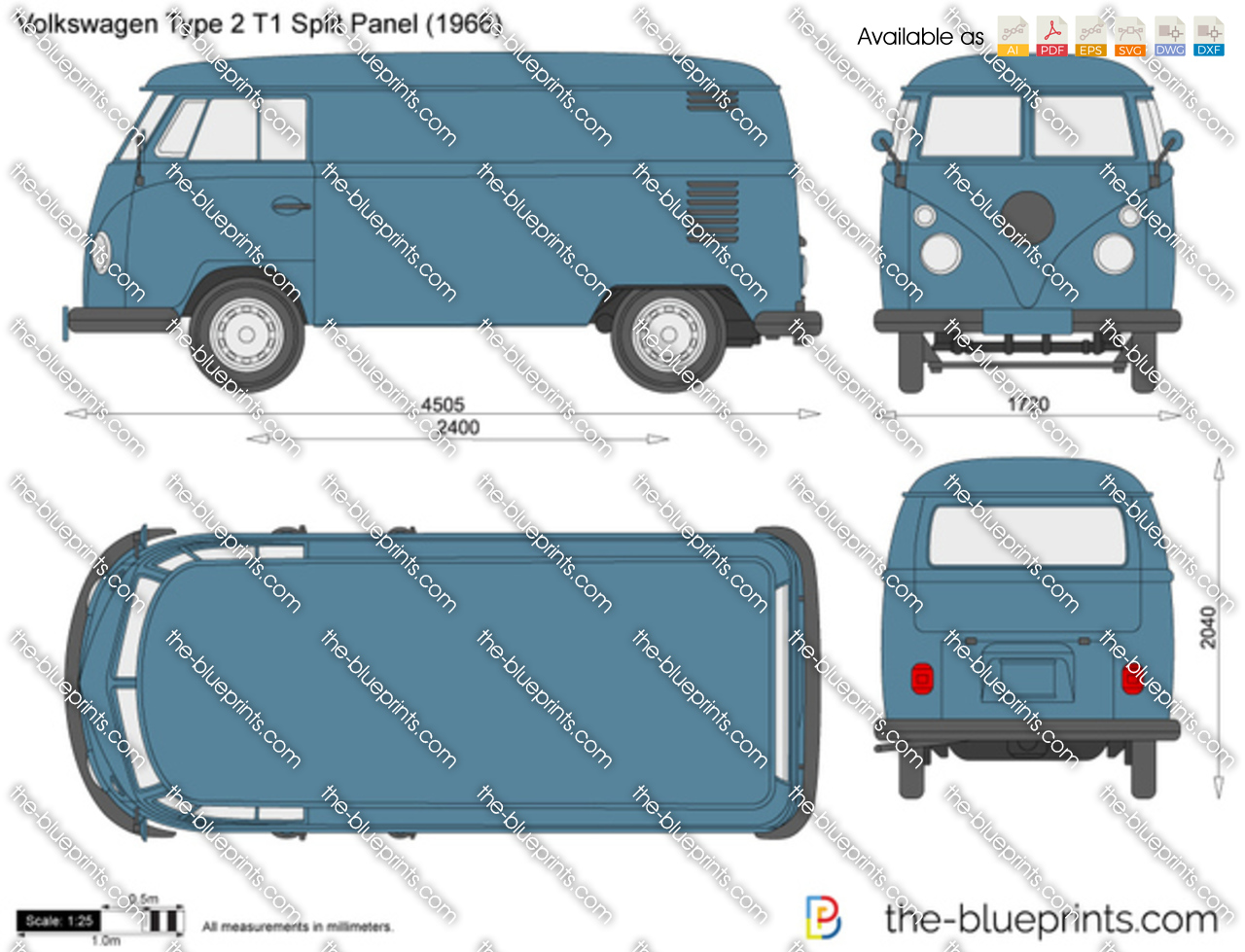 1961 Volkswagen Type 2 T1 Split Panel