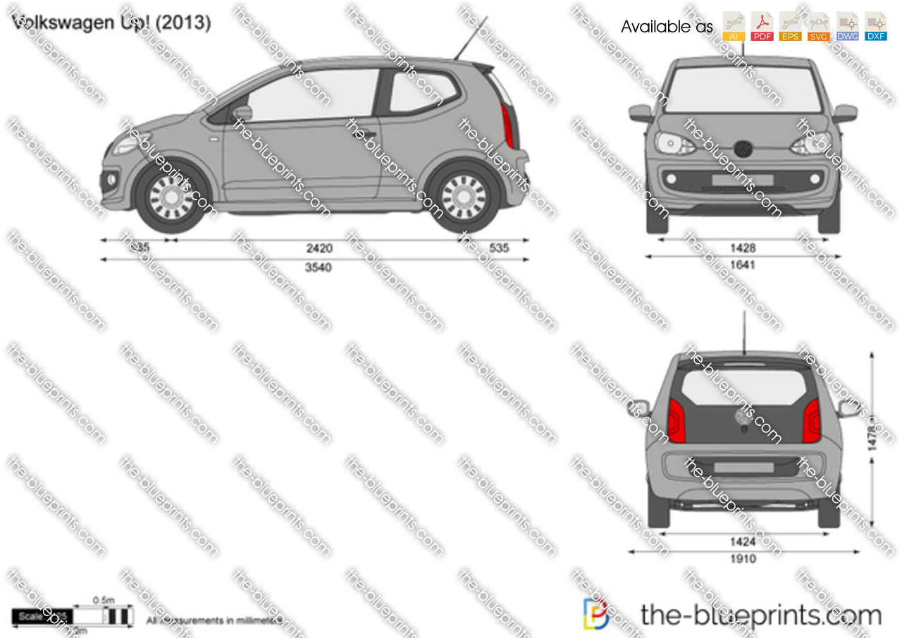 volkswagen up  vector drawing