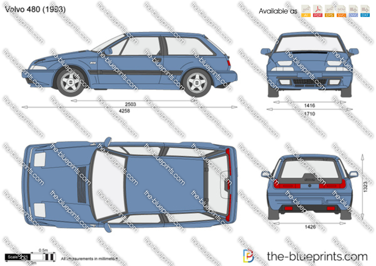 the vector drawing volvo 480. Black Bedroom Furniture Sets. Home Design Ideas