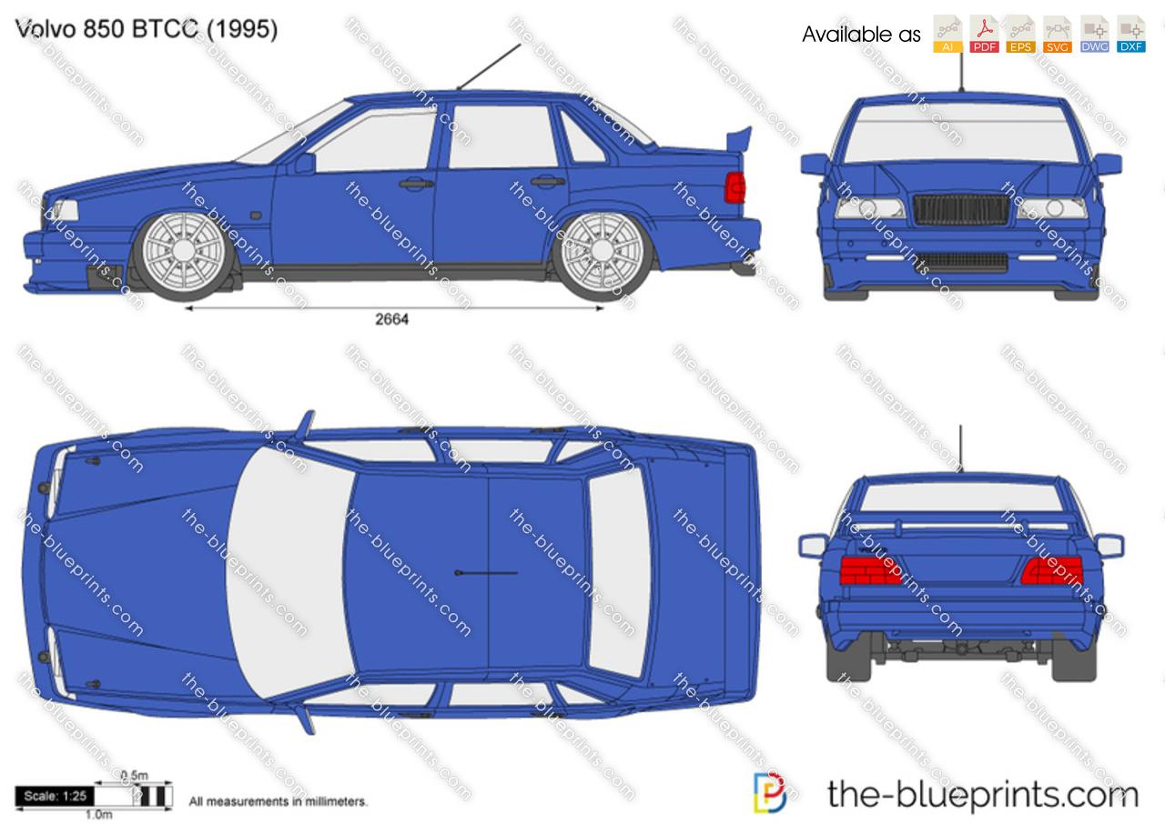 Volvo 850 Btcc Vector Drawing