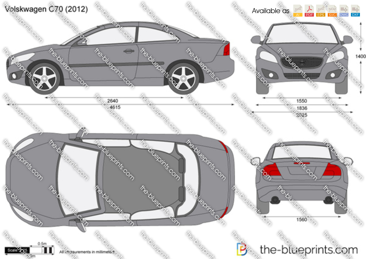 The Vector Drawing Volvo C70