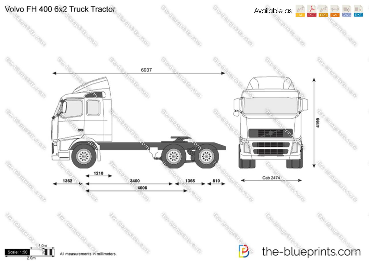 Volvo FH 400 6x2 Truck Tractor