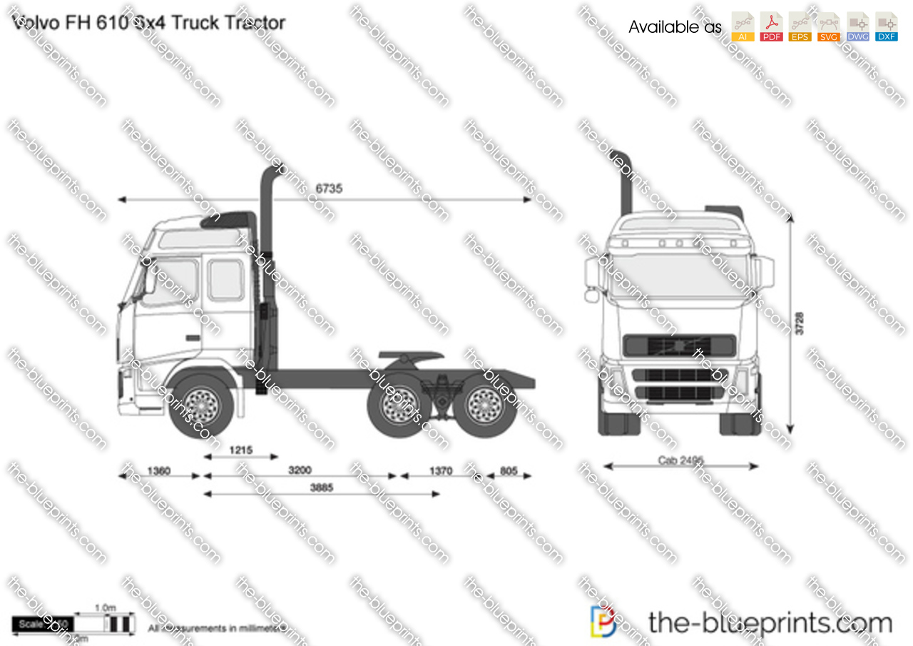 Volvo FH 610 6x4 Truck Tractor
