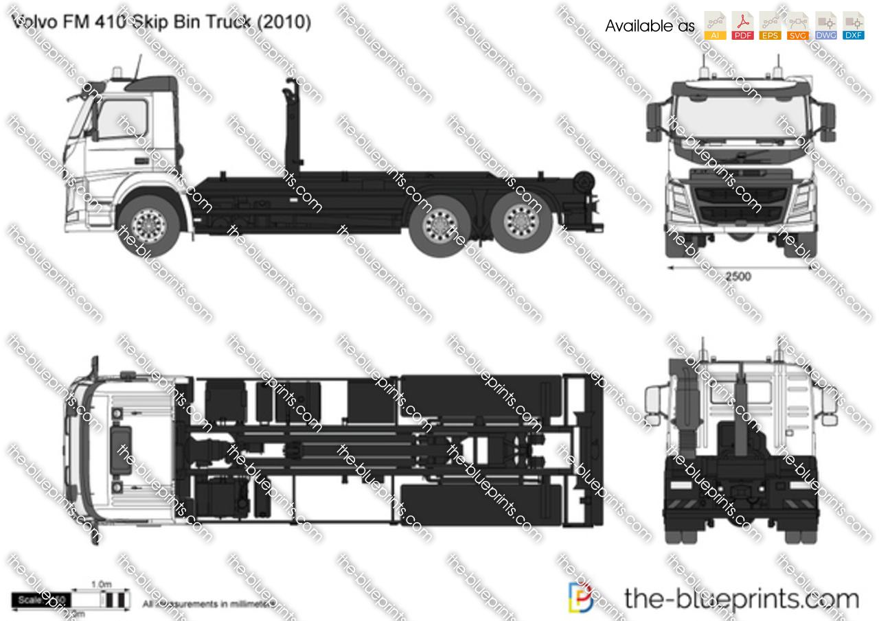 Volvo FM 410 Skip Bin Truck