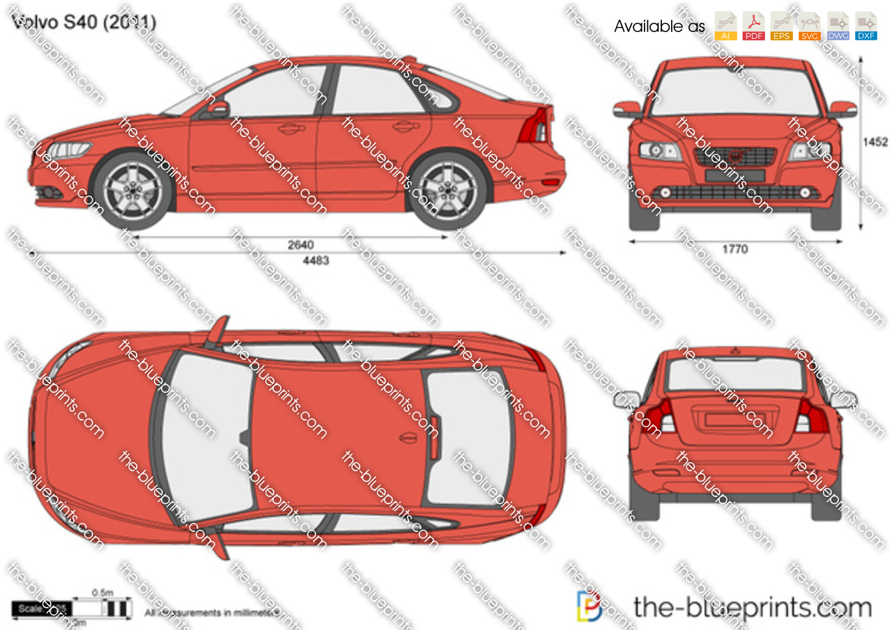 Volvo S40 Vector Drawing