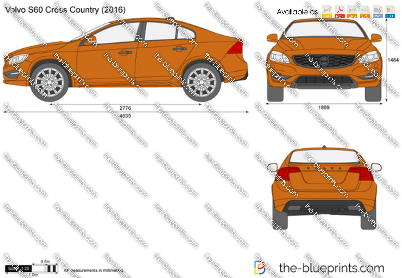 TheBlueprintscom  Vector Drawing  Volvo S60 Cross Country
