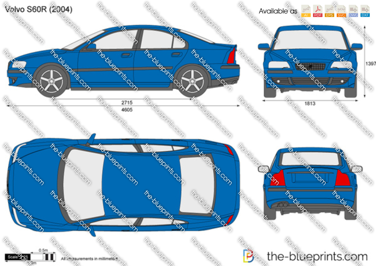 Volvo S60R vector drawing