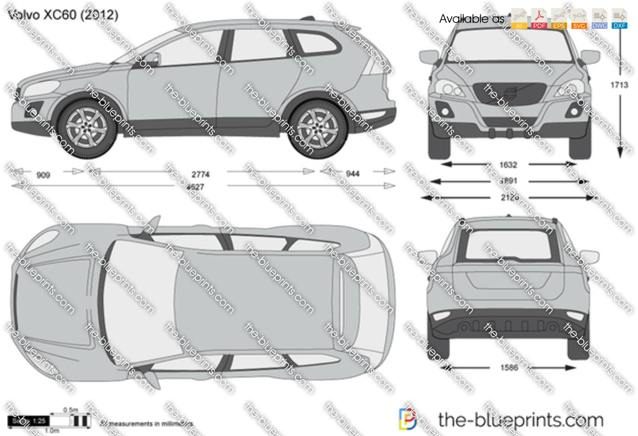 Volvo XC60 vector drawing