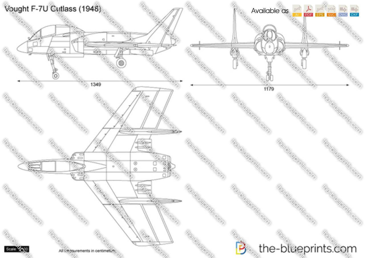 Vought F-7U Cutlass