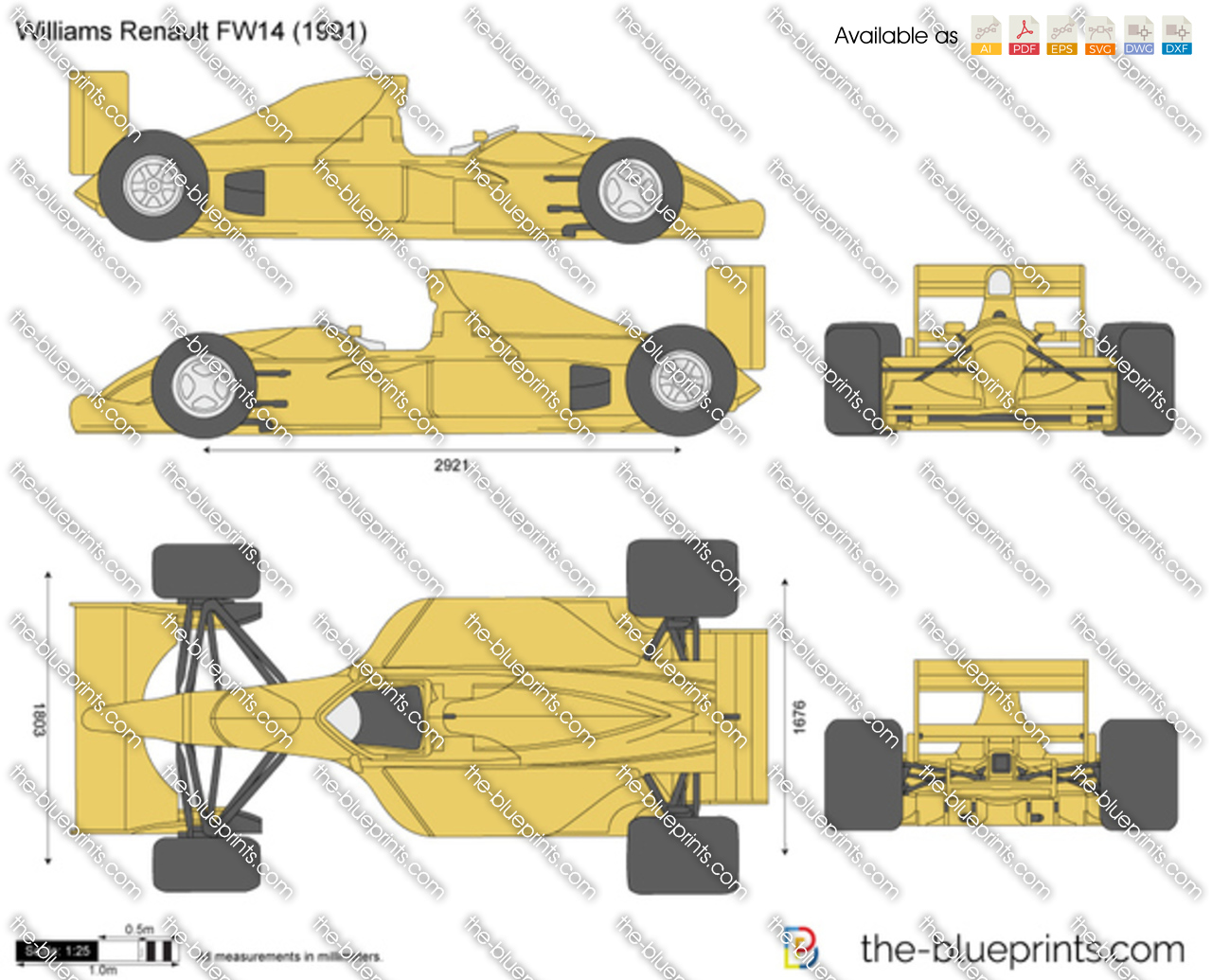The Blueprints Com Vector Drawing Williams Renault Fw14