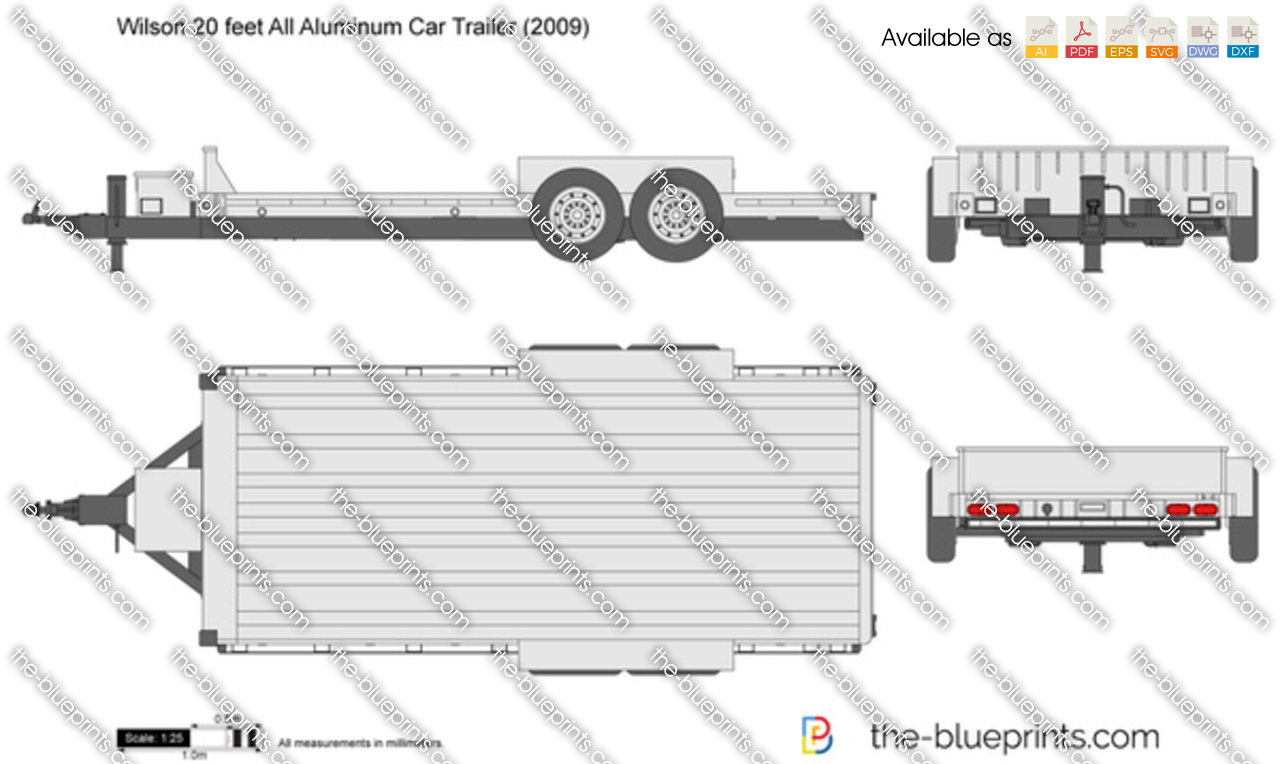 Wilson 20 feet All Aluminum Car Trailer