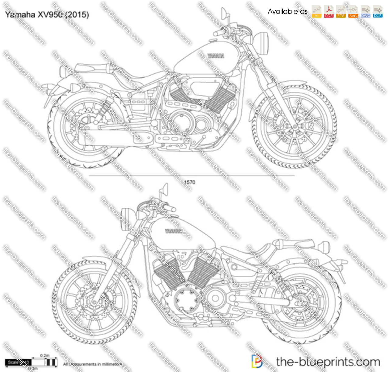 Yamaha XV950 2018