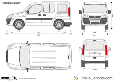 the vector drawing fiat doblo. Black Bedroom Furniture Sets. Home Design Ideas