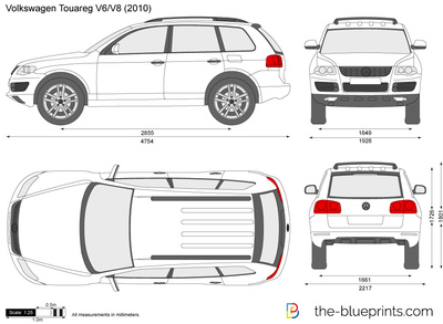 blueprints cars volkswagen volkswagen touareg 2008. Black Bedroom Furniture Sets. Home Design Ideas