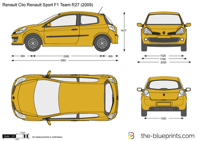 renault clio renault sport f1 team r27 vector drawing. Black Bedroom Furniture Sets. Home Design Ideas