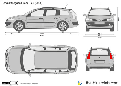 the blueprints cars renault renault megane ii break 2006. Black Bedroom Furniture Sets. Home Design Ideas