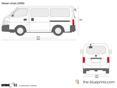 Nissan Urvan Vector Drawing