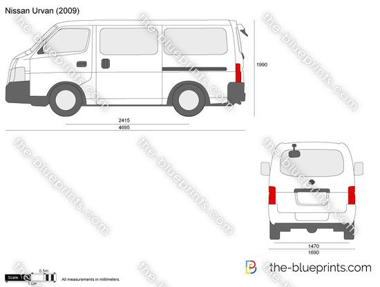 The Blueprints Com Vector Drawing Nissan Urvan
