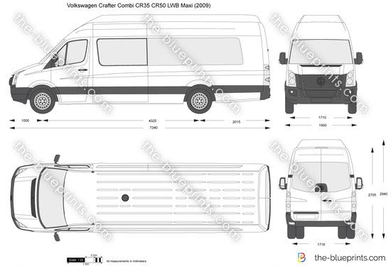 Volkswagen Crafter Combi CR35 CR50 LWB Maxi