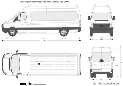 Volkswagen Crafter CR35 CR50 Panel Van LWB High