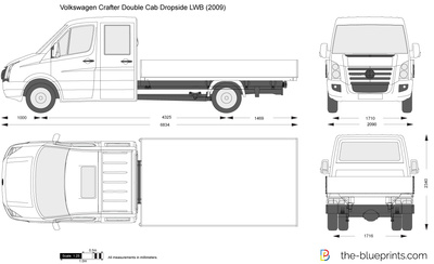 Volkswagen Crafter Double Cab Dropside LWB