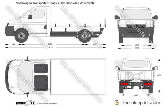 Volkswagen Transporter T5 Chassis Cab Dropside LWB