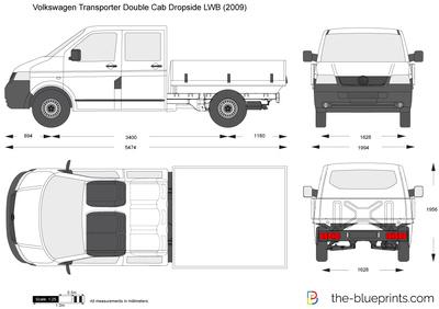 Volkswagen Transporter Double Cab Dropside LWB