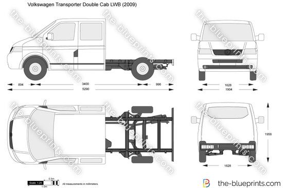 Volkswagen Transporter T5 Double Cab LWB