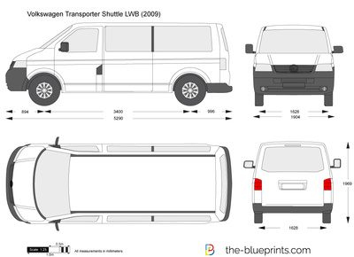 the vector drawing volkswagen transporter t5 shuttle lwb. Black Bedroom Furniture Sets. Home Design Ideas