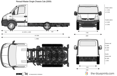 Renault Master Single Chassis Cab